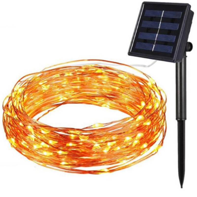 12M 22M Solar Power Outdoor lights LED Garden Lawn lamp Fairy Copper Wire LED String Decorative Holiday Wedding Party Christmas