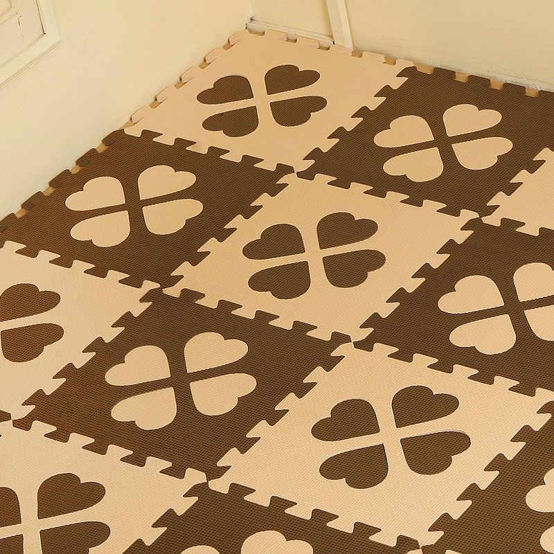 10Pcs Baby Play Mat EVA Foam Safety Puzzle Mat Interlocking Floor Tiles  Exercise Gym Playmat For Kid 30x30cm Per Pcs