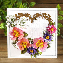 Heart Flowers Branch Metal Cutting Dies for DIY Craft Making Card Scrapbooking Decorative Embossing Stencils