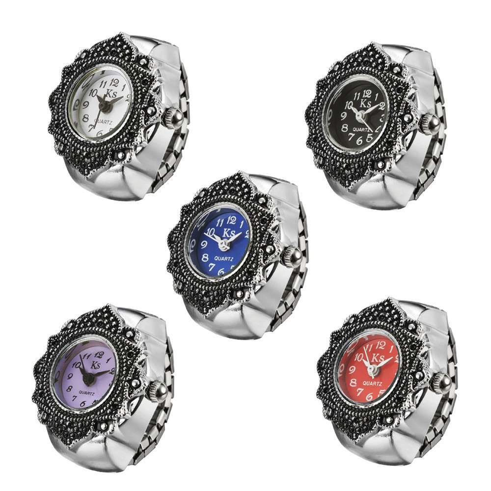 цены Low price Best Gift for Women Finger Ring Watch high quality girl lady clock hour Flower Rings Watch WH332