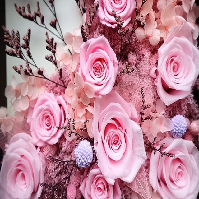 Romantique rose main fait préservé frais fleur décoration murale ...