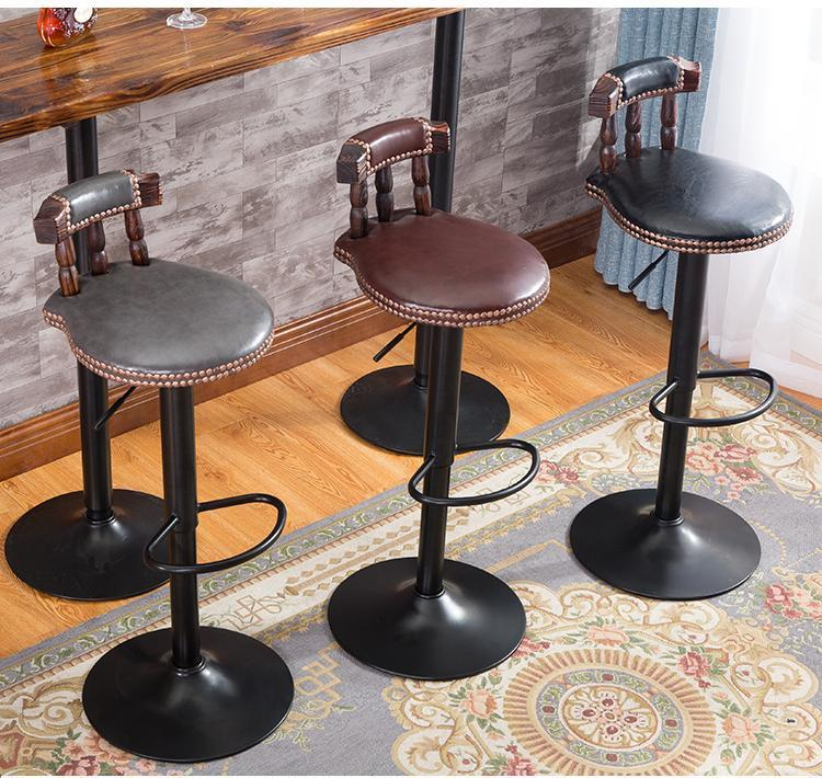 dining room chair home stool tea table chair free shipping free shipping dining stool bathroom chair wrought iron seat soft pu cushion living room furniture
