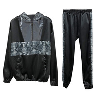 Sports Suit Female Hooded Casual Pants Two piece 2019 Autumn And Winter Fashion Trousers Suits Sets Women Snakeskin Tracksuits