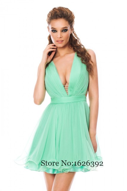 Sexy mint green dress