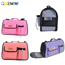 Pet Cat Dog Carrier Dot Car Seat Basket Travel Protector Bags For Small Outdoor Single Shoulder Bag