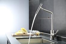 Матовый никель смеситель для кухни современная кухня смеситель, 304 нержавеющая сталь 360 градусов вращения свинца torneira де Cozinha