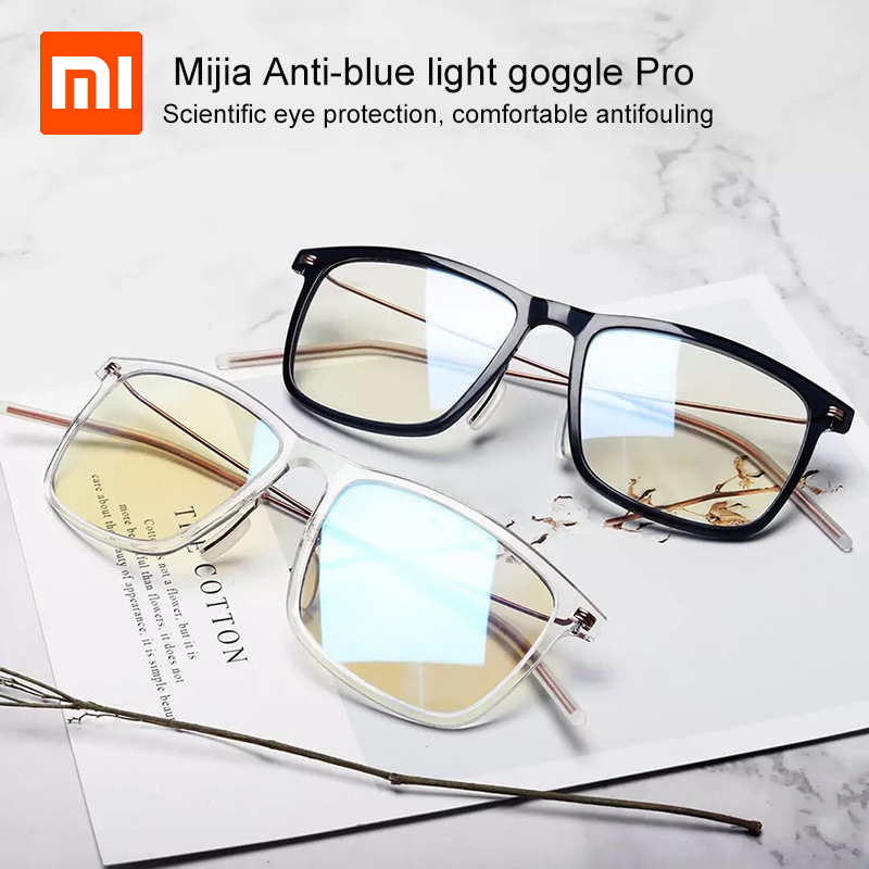Newest Xiaomi Mijia Anti-blue Light Goggle Pro Xiaomi Glasses 50% Blue Blocking Rate Minimal Design Double-sided Oil Resistance