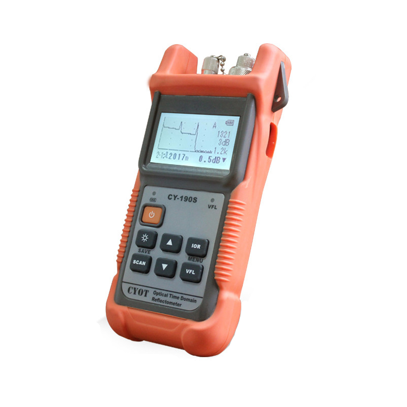 ZHWCOMM CY-190s Handheld OTDR 60KM Fiber find fault tester 1310nm Fiber breakpoint fault detector with VFL FC/SC ConnectorZHWCOMM CY-190s Handheld OTDR 60KM Fiber find fault tester 1310nm Fiber breakpoint fault detector with VFL FC/SC Connector