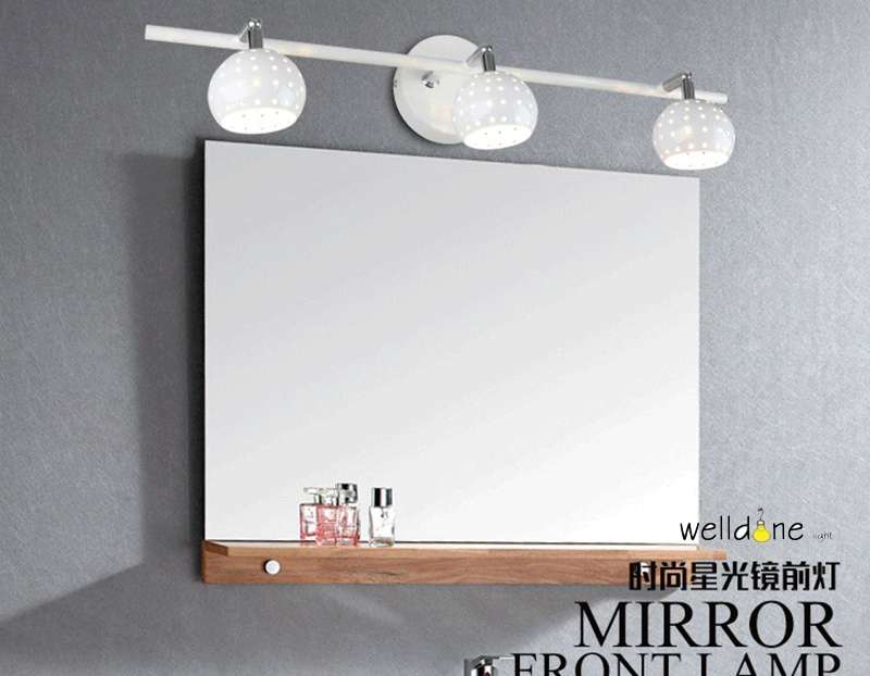 Slaapkamer Lamp Zwart : Led badkamer slaapkamer spiegel lamp zwart wit heads wandmontage