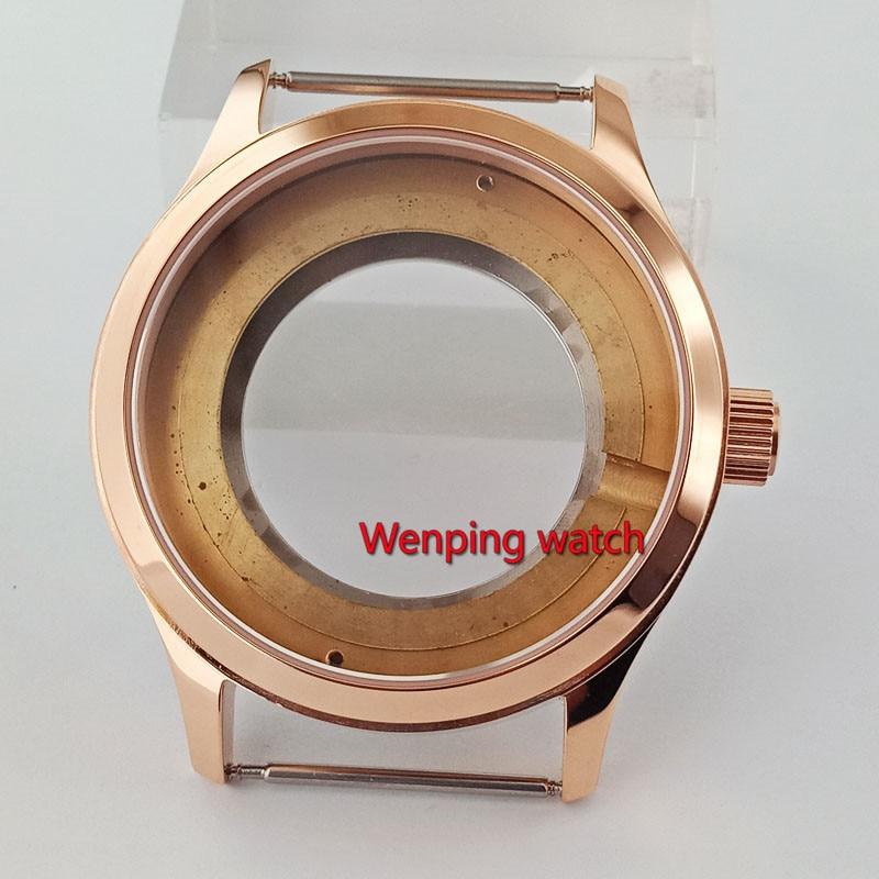 Debert Fit ETA 2836 movement 42mm Gold polishing sapphire glass 5ATM watch case p839