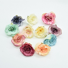 4.5CM Artificial flowers christmas decorations for home wedding bridal accessories clearance household products silk roses heads