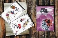 Женщина цветок Вспышка татуировки Рукопись эскиз книга журнал Книги по искусству A4 бесплатная доставка