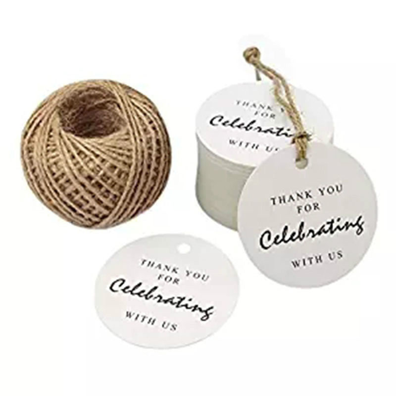 Personalized Paper Gift Tag,300 PCS Kraft Tags Round DIY Tags wedding cards decoration Thank You Tags for Wedding,Baby Shower