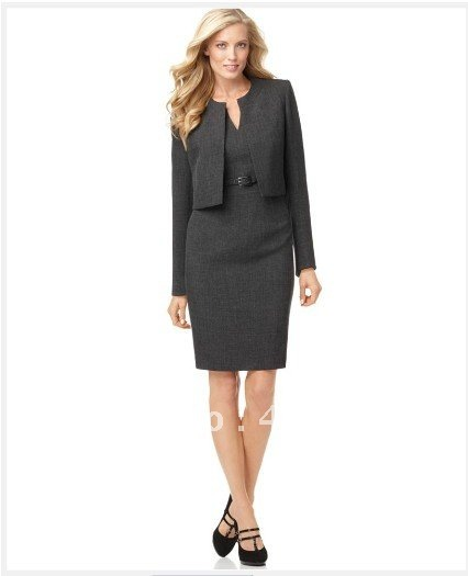 Dark Gray Women Clothes Women Dresses Tailor Custom Women Suit Long
