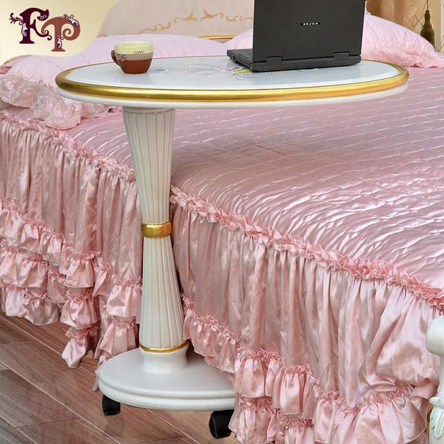 2016 el más nuevo diseño italiano muebles de reproducción blanco barroco de la moda de madera maciza artesanal bedstand