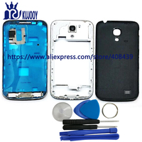 KUJOOY I9190 Full Housing For Samsung Galaxy S4 SIV Mini I9190 I9195 Front Middle Frame Bezel