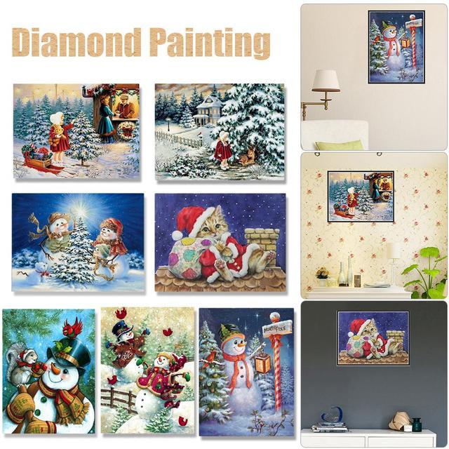 Aliexpress Buy 20x25cm Full Diamond Snowman Christmas Patterns