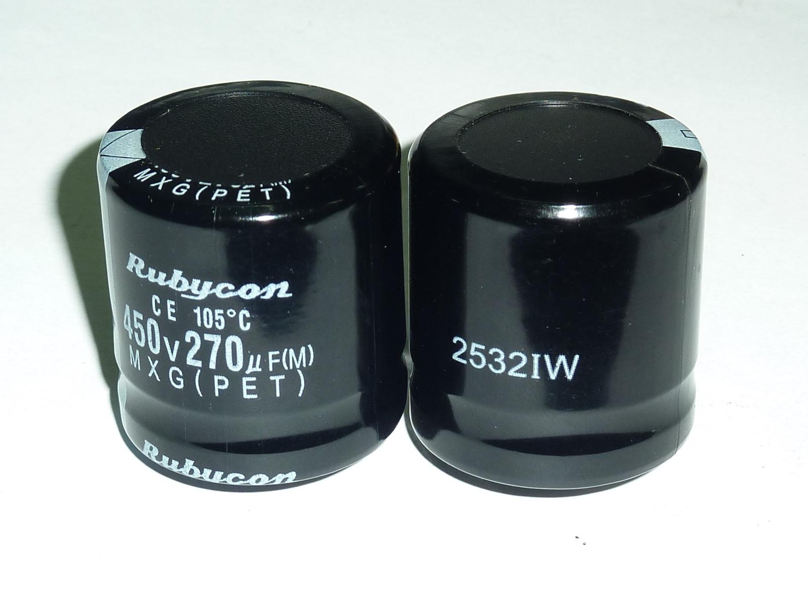 10pcs 270uF 450V RUBYCON MXG Series 30x30mm 450V270uF Aluminum Electrolytic Capacitor