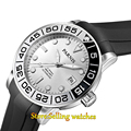 42mm Parnis silver dial Sapphire glass 21 jewel Miyota automatic mens watch