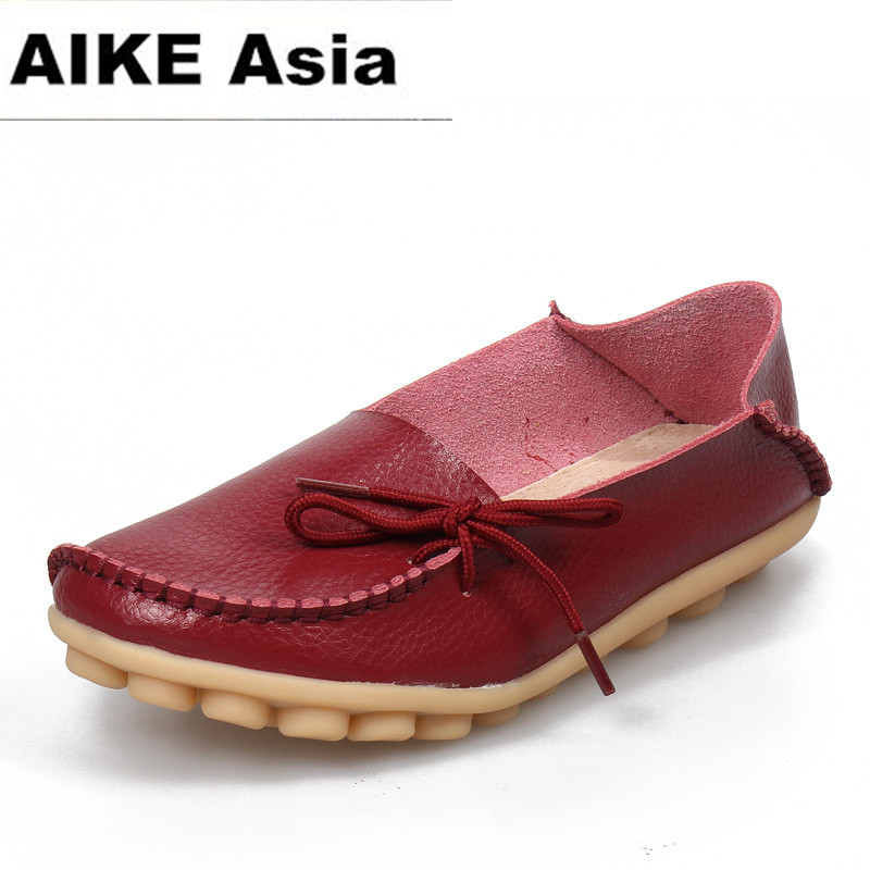 Large size leather Women shoes flats mother shoes ladies lace-up fashion casual shoes comfortable breathable women flats 911 fashion women casual shoes breathable air mesh flats shoe comfortable casual basic shoes for women 2017 new arrival 1yd103