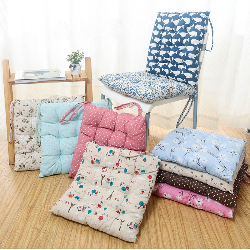 40*40cm Cheap Soft Home Office Linen Outdoor Square Cotton Seat Pad Thicken  Cushion Buttocks