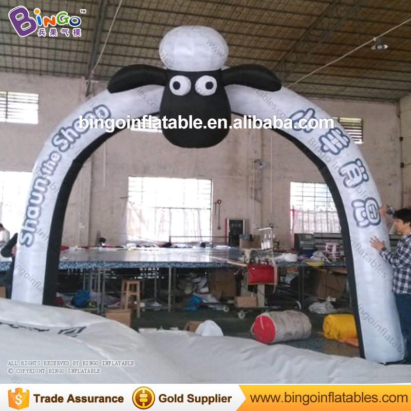 Factory price 4M inflatable Shaun sheep arch for event commercial inflatable toy long huge arch type inflatable tents for commercial rental