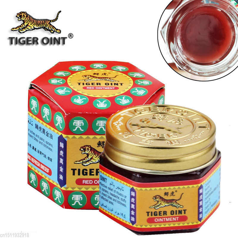 100% Original สีแดง Tiger Balm Ointment ประเทศไทย Painkiller Lion Balm Muscle Pain Relief Ointment ปลอบประโลม itch 19.5g