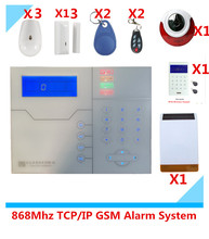 Big Discout 868Mhz TCP/IP GSM network Alarm system Home Security Alarm System with Solar Strobe siren