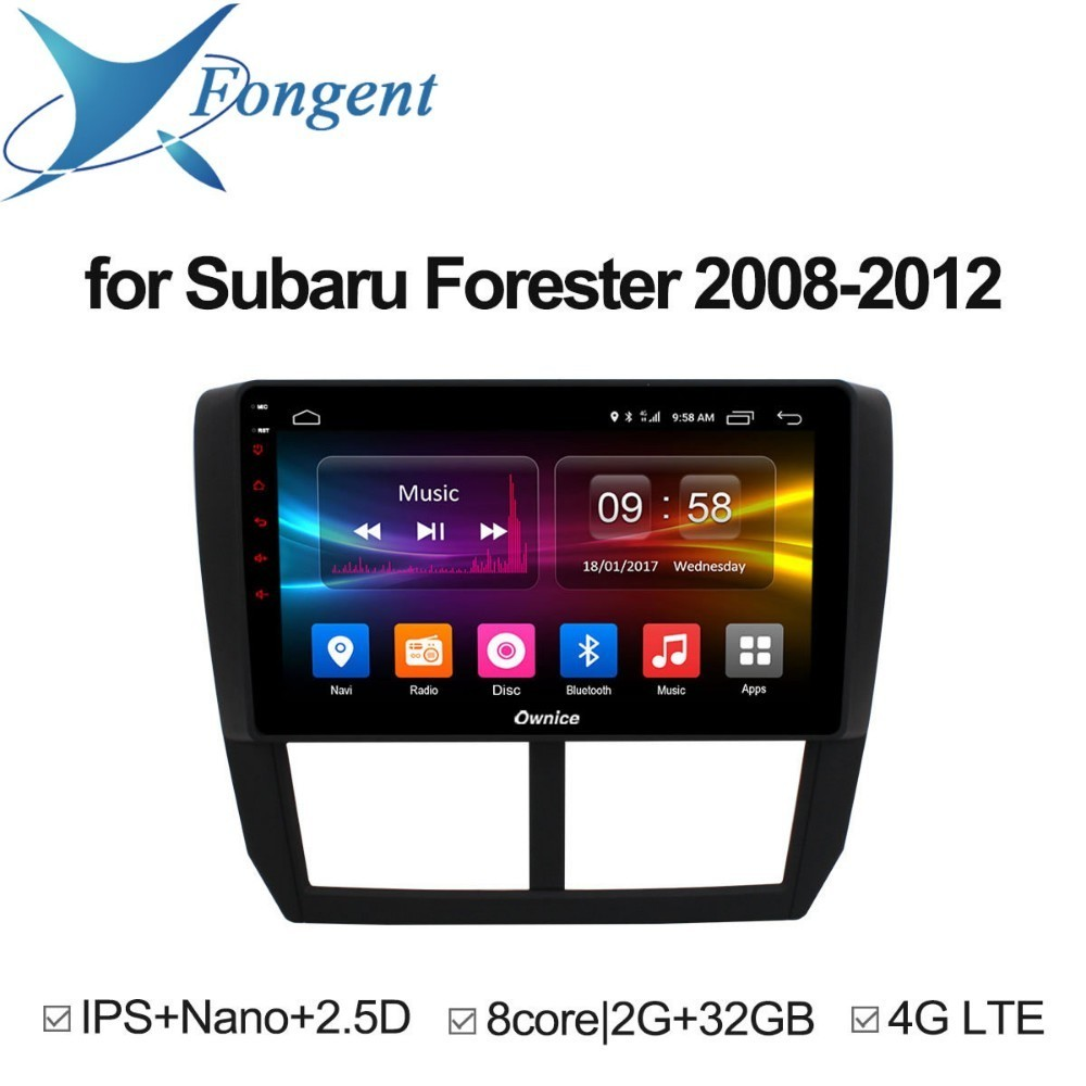 For Subaru Forester XV WRX 2008 2009 2010 2011 2012 Android 8.1 Unit Car DVD GPS Navigator Multimedia Player Intelligent Radio