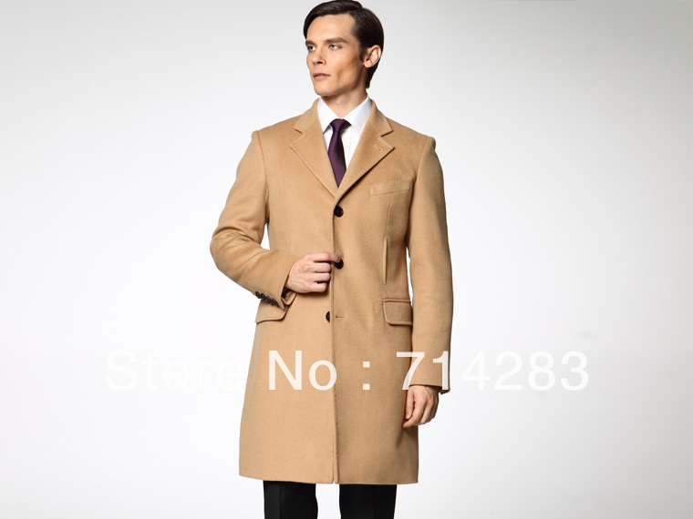 Tailored MEN Coat 2015 Wool & Cashmere Coat Camel/grey Custom ...