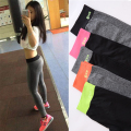 Spring period high stretch show thin sports  nine points pants fitness clothing  speed dry tight running pants female