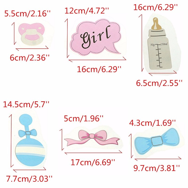 10pcs Party Gifts Photo Booth Props Diy Bottle Baby Shower Boy Girl