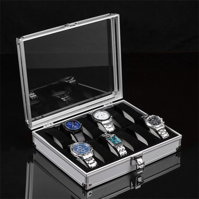 1pcs12 Grid Watches Display Show Storage Box Case Slots Jewelry
