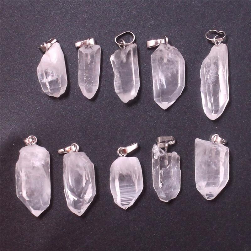 Druzy 50 pcs à la mode cristal de Quartz clair forme irrégulière pendentif Style Simple naturel mode pierres semi-précieuses bijoux de charme