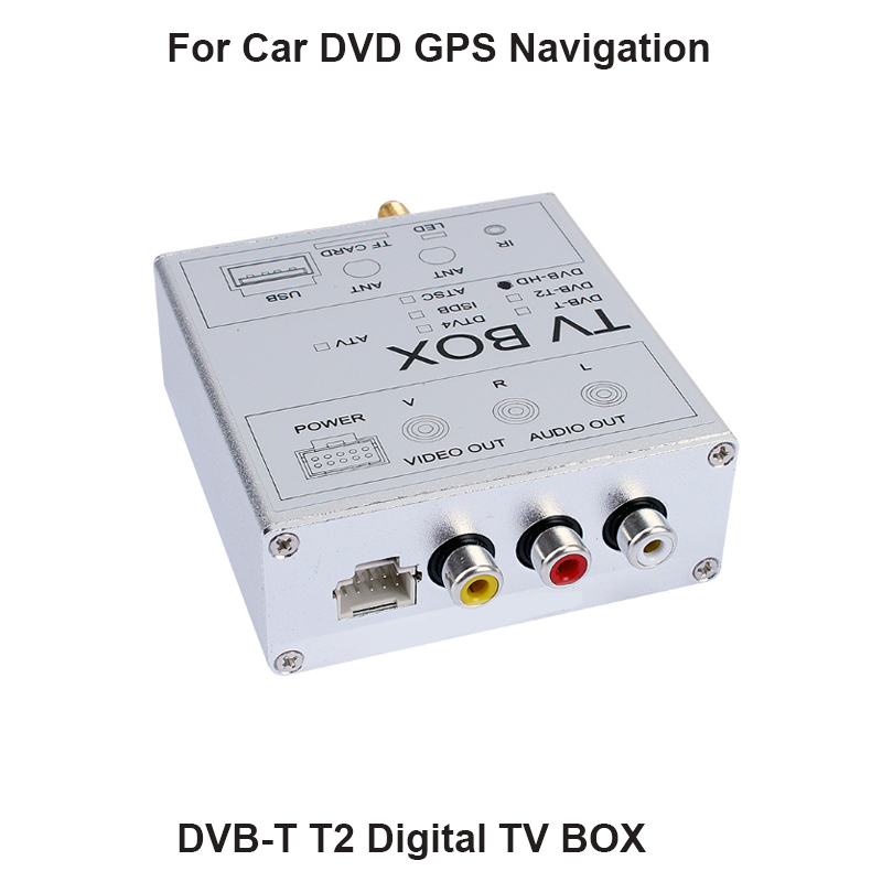 120KM/H (Max) High Speed Car HD DVB-T2 H.264 MPEG-4 Mobile Digital TV Turner Receiver For Russia Thailand mini hd dvb t2 terrestrial digital tv receiver support 3d black