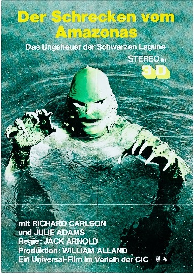 Germany Creature from the Black Lagoon (1954) Sci-Fi Movie Film Retro Vintage Kraft Poster Canvas Wall Sticker Home Decor