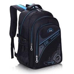 Детские школьные ранцы для мальчиков, утолщенный рюкзак для защиты позвоночника, большой объем, водонепроницаемые детские школьные сумки ...