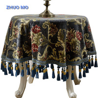 Luxury table cloth round With Tassel for Family Guest Party Banquet Hotel Restaurant Wedding Decor Table Decor