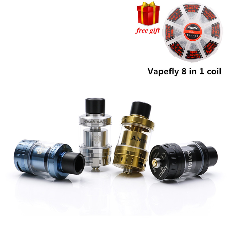 Original GeekVape Ammit 25 RTA Upgrade From Ammit Dual Coil RTA Enhanced 3D Airflow System Huge