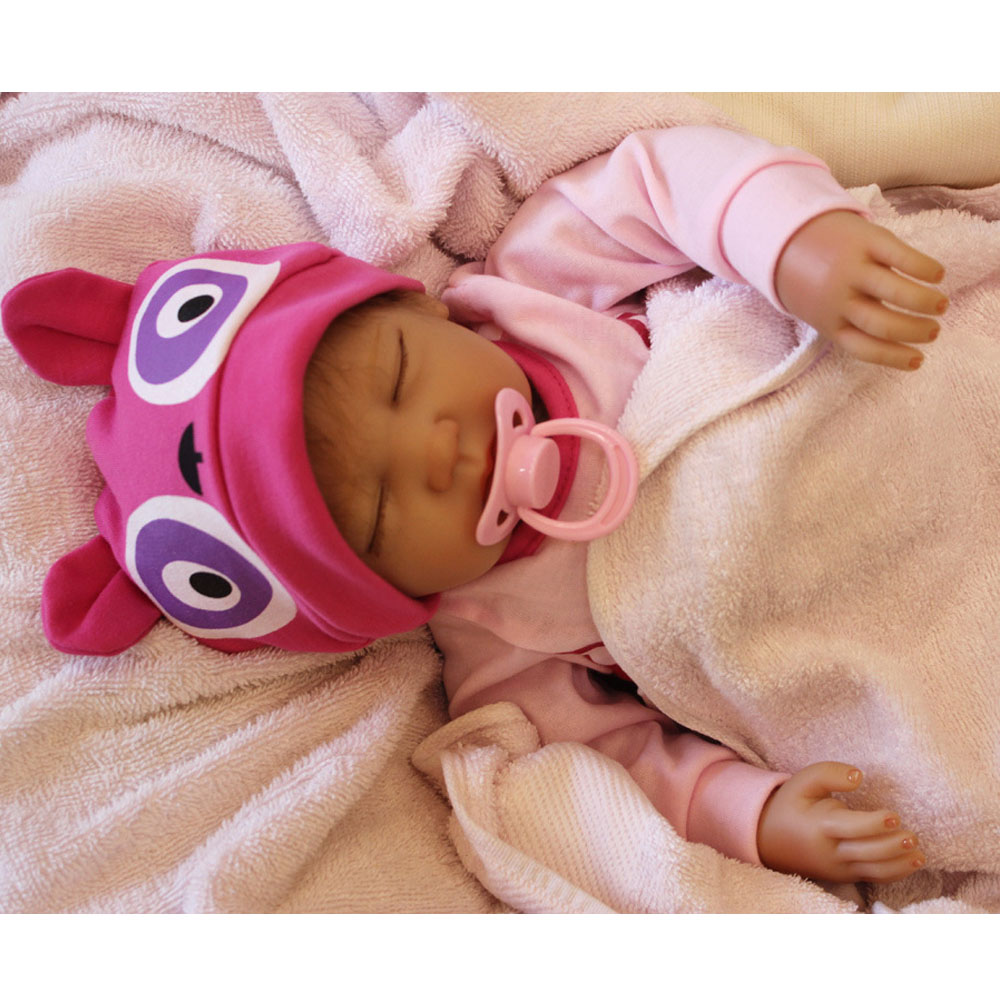 45-50CM New Hot Silicone Doll Reborn Baby girl realistic Handmade Cloth Body Reborn Babies Toys Growth Partners Best kids Gift partners lp cd