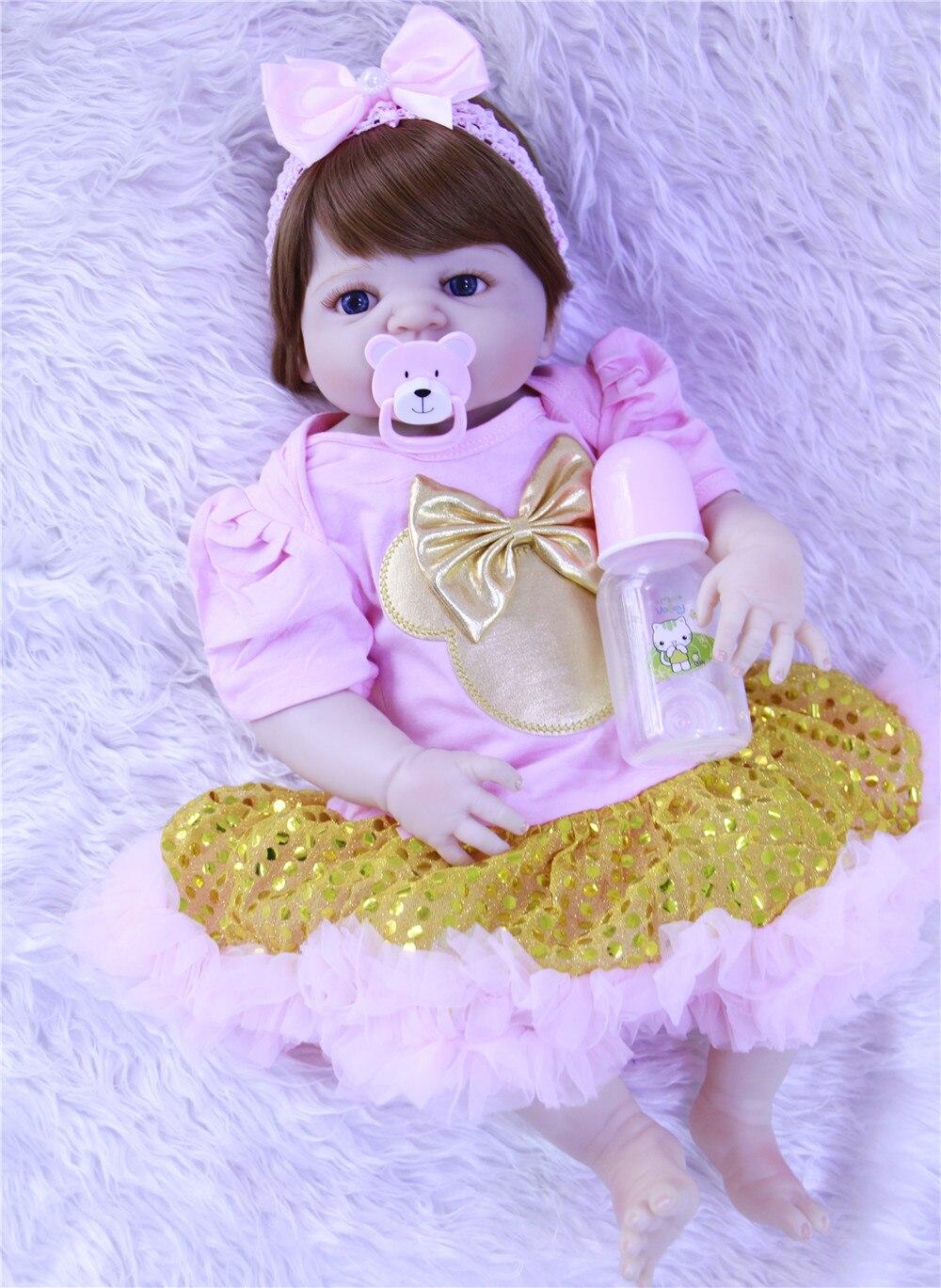 57 cm bebe reborn poupée silicone reborn reborn bébé poupées lol poupée brinquedos boneca reborn cadeau de noel pour filles dollmai - 6