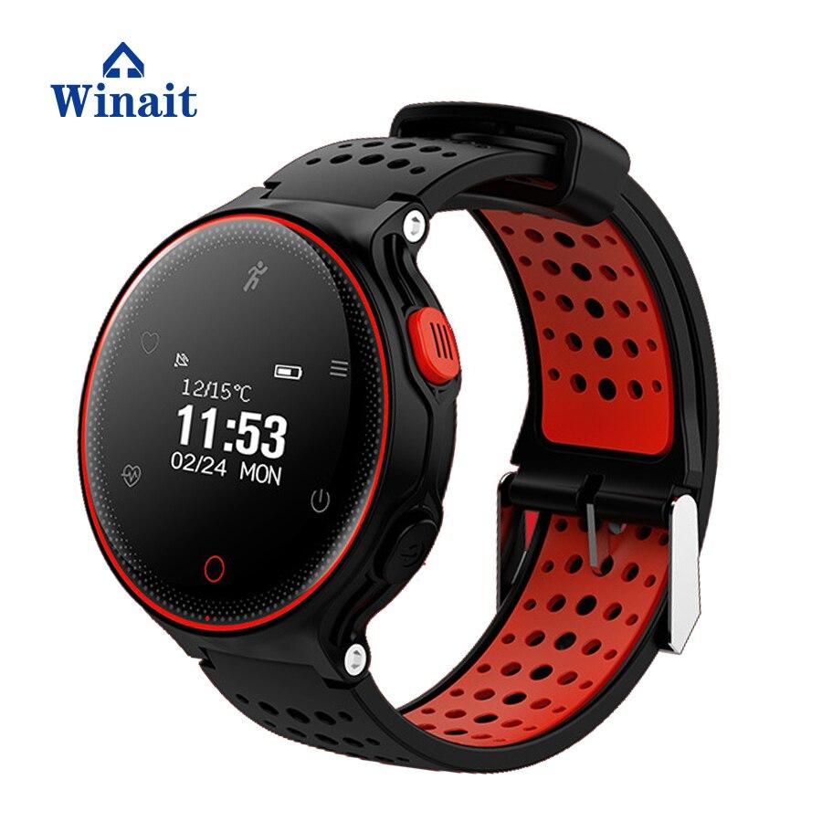Winait x2 ip68 étanche sport numérique montre téléphone avec écran tactile/fréquence cardiaque/pression artérielle