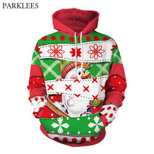 3D Snowman Funny Print Hoodies Men Women Hooded Sweatshirt 2018 Autumn New Hip Hop Harajuku Hoodie Tracksuit Casual Sweat Homme(China)