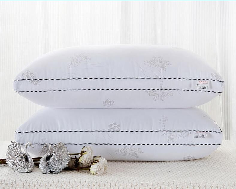 Cotton Feather Pillow Throw pillows Pillow Zero Pressure Memory 48x74cm Pillow Neck font b Health b
