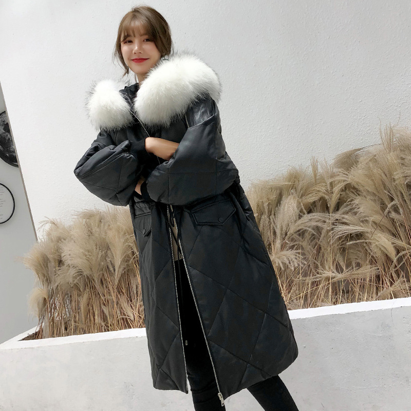 Autumn Winter Real Genuine Leather Jacket Women Clothes 2019 Down Coat Korean Vintage Fox Fur Collar Sheepskin Coat ZT2793