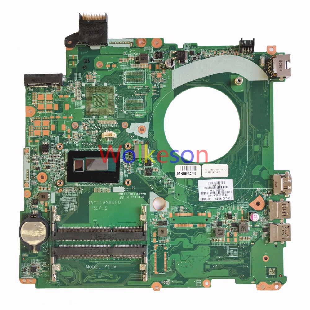 SHELI FOR HP Pavilion 15-P Series Laptop Motherboard W I3-4030U CPU 774768-501 DAY11AMB6E0 DDR3L Test Oke