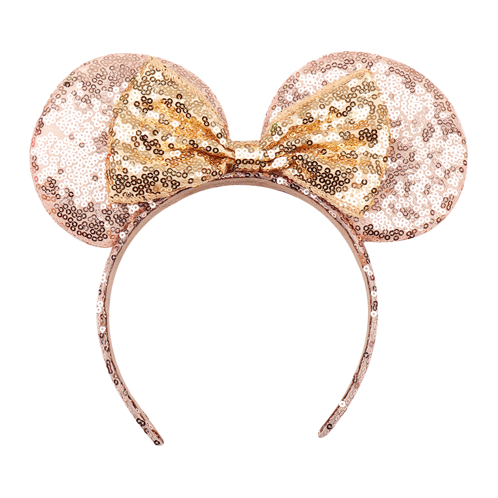Headwear Hairband Sequin Bow Headband for Girls Minnie Mouse Ears Hairbands Birthday Party Kids Fashion Hair Accessories 15