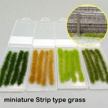 Миниатюрный Тип полосы трава модель DIY производство Поезд песок стол здание миниатюрный вариант расходные материалы