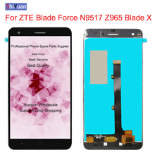 5.5 inch For ZTE Blade X LTE Z965 / Blade Force N9517 New Full LCD DIsplay + Touch Screen Digitizer Assembly Replacement new 5 inch full lcd display touch screen digitizer assembly replacement for zte blade x5 blade d3 t630 free shipping