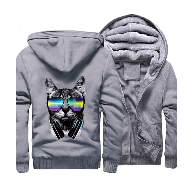Men Thick Hooded Sportswear Sweatshirt